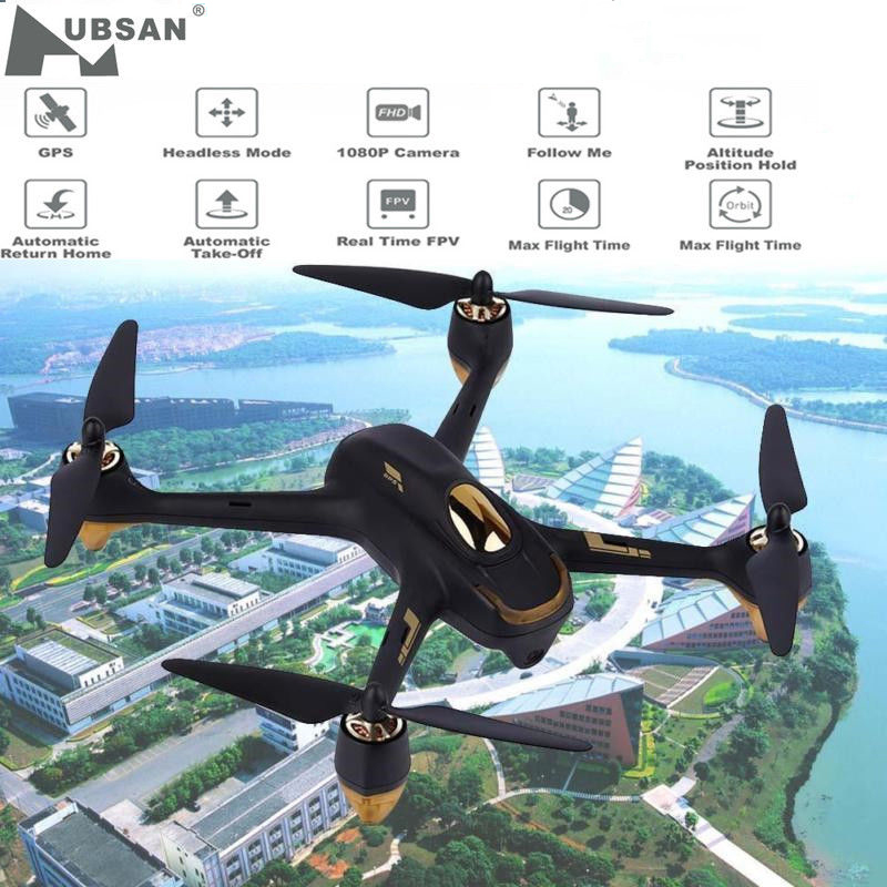 Hubsan X4 H501S X4 Brushless FPV RC Quadcopter Drone Only BNF Aircraft Body with 1080P HD Camera GPS NO Transmitter Black White image
