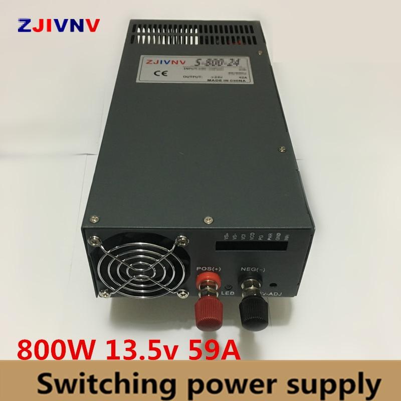 800W Switching Power Supply 13.5V 59A ac-dc power supply housing voltage regulator 220V For CNC Machine DIY LED Lamp CCTV