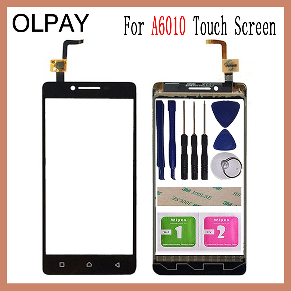 OLPAY 5.0 inch Tested Front Outer Glass For Lenovo A6010 A 6010 Touch Screen Digitizer Panel Lens Sensor Tools AdhesiveOLPAY 5.0 inch Tested Front Outer Glass For Lenovo A6010 A 6010 Touch Screen Digitizer Panel Lens Sensor Tools Adhesive