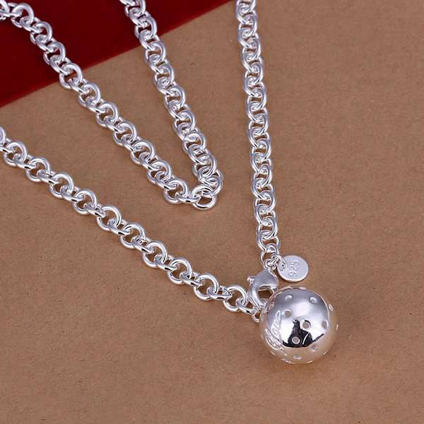 Wholesale silver plated necklaces amp pendants925 jewelry wholesale silver plated necklaces amp pendants925 jewelry silverball pendant necklace smtn045 mozeypictures Choice Image