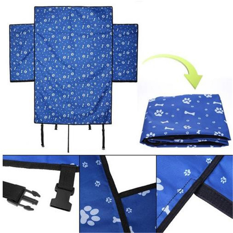 Pet carriers Oxford Fabric Car Pet Seat Covers Waterproof Back Bench Seat Travel Accessories Car Seat Covers Mat Blanket Cushion in Dog Carriers from Home Garden