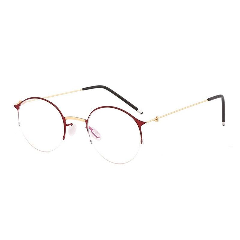 Handoer 6736 Optical Glasses Frame For Men And Women Alloy Eyewear Half Rim Alloy Spectacles Glasses Optical Prescription Frame