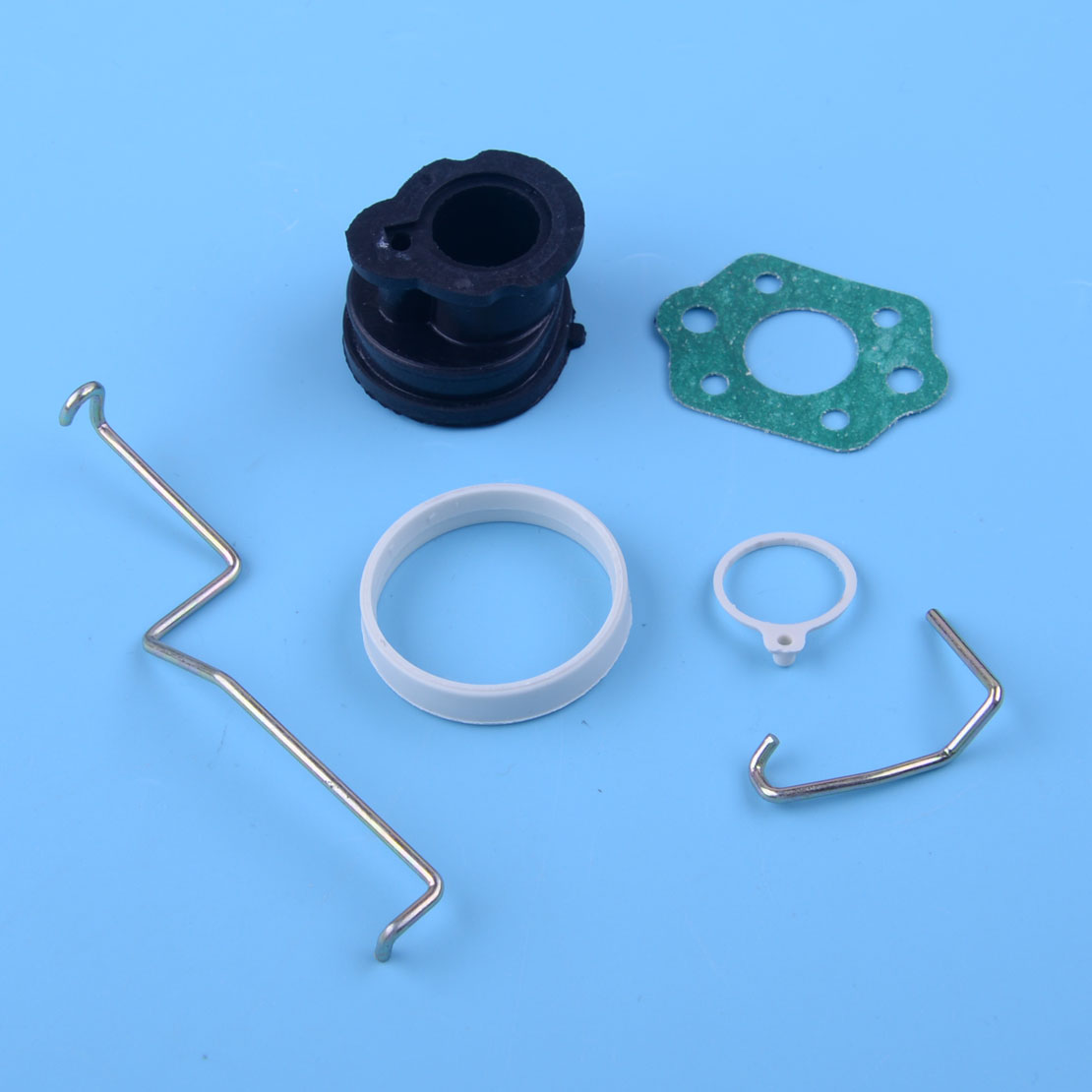 LEATOSK 6pcs/Set Throttle Lever & Choke Rod & Intake Manifold &Gasket 1130 185 2000 Fit For STIHL MS180 MS180C MS170 017 018