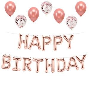 Image 4 - Lincaier 16 אינץ יום הולדת שמח רדיד בלוני תינוק ילד ילדה ראשון יום הולדת 1st אחד זר קישוט מסיבת ילדים למבוגרים
