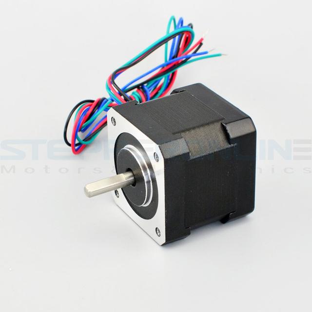 Nema 17 Stepper Motor 40Ncm(56.6oz.in) 12V 0.4A 42x39mm 4-lead Nema17 Stepping Motor for DIY CNC Reprap