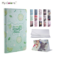 Mediapad T3 7 0 PU Leather Case Cover 7 Slim Print Smart Protective Stand Skin For