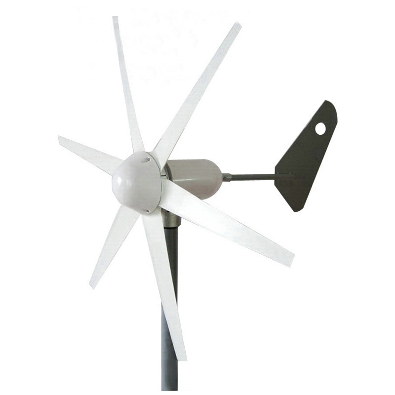 300W 6 blades wind turbine generator 12V 24V AC output 1m/s small wind-speed start wind generator / windmill CE Approved free shipping 600w wind grid tie inverter with lcd data for 12v 24v ac wind turbine 90 260vac no need controller and battery