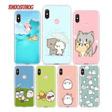 Silicone Phone Case Kawaii Molang for Redmi 7 Y3 Y2 S2 Xiaomi Redmi Note 7 6 6A 5 5A Pro Plus 4 4X Cover цена