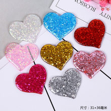Glitter Heart Diy Material Slime Accessories Nail Accessories Heart Mold Plasticine Tool Rainbow Toys for Children Unisex Model(China)