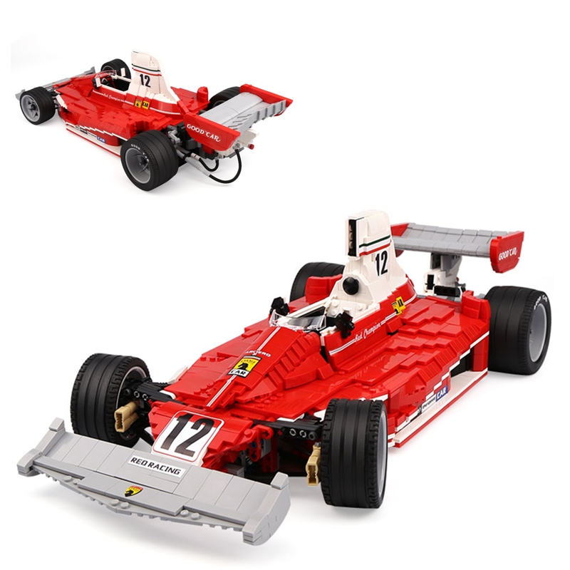 XINGBAO F1 Red Power Racing Building Blocks Kit Bricks set Classic Super Sports Car Model Kids Toys Gifts Compatible Legoings