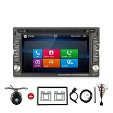6.2 INCH Double 2 Din Car DVD Player FM AM Radio Bluetooth Call Music Video Audio In Deck PC Head Unit camera car parking Mirro