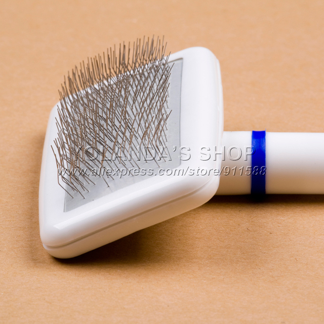 Cat Dog Accessories Soft Comfortable Plastic Handle Brush Airbag Pet Grooming Pin Comb Steel Needles For Small Dog  2 pcs / lot