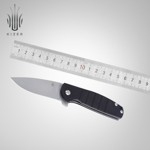 Kizer folding knives outdoor survival V3471 N690 steel blade knife G10 handle high quality hand tool