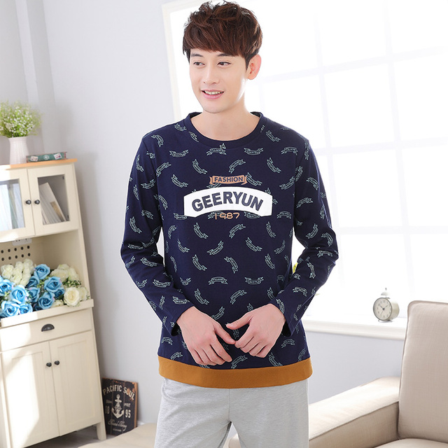 Sales Autumn Winter Cotton Men's Pajamas Long Sleeve Gay Homewear Pyjamas Sleepwear Couple Pajama Sets Plus size 3XL Lounge
