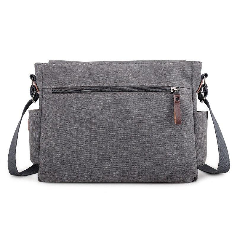 Image 5 - 2019 брендовый дизайнерский мужской портфель, холщовые сумки через плечо для мужчин, 14 дюймов, сумки на плечо для ноутбука, удобная офисная мужская сумка мессенджер-in Портфели from Багаж и сумки