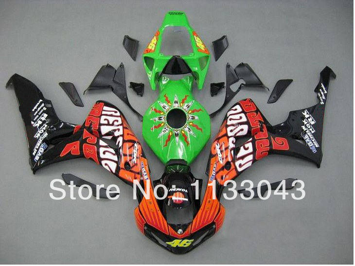 Tank+ 100%Fit injection fairings for HONDA CBR 1000RR 06 07 CBR1000 RR 2006 2007 CBR 1000 RR 06 07 green black #16F fairing kits