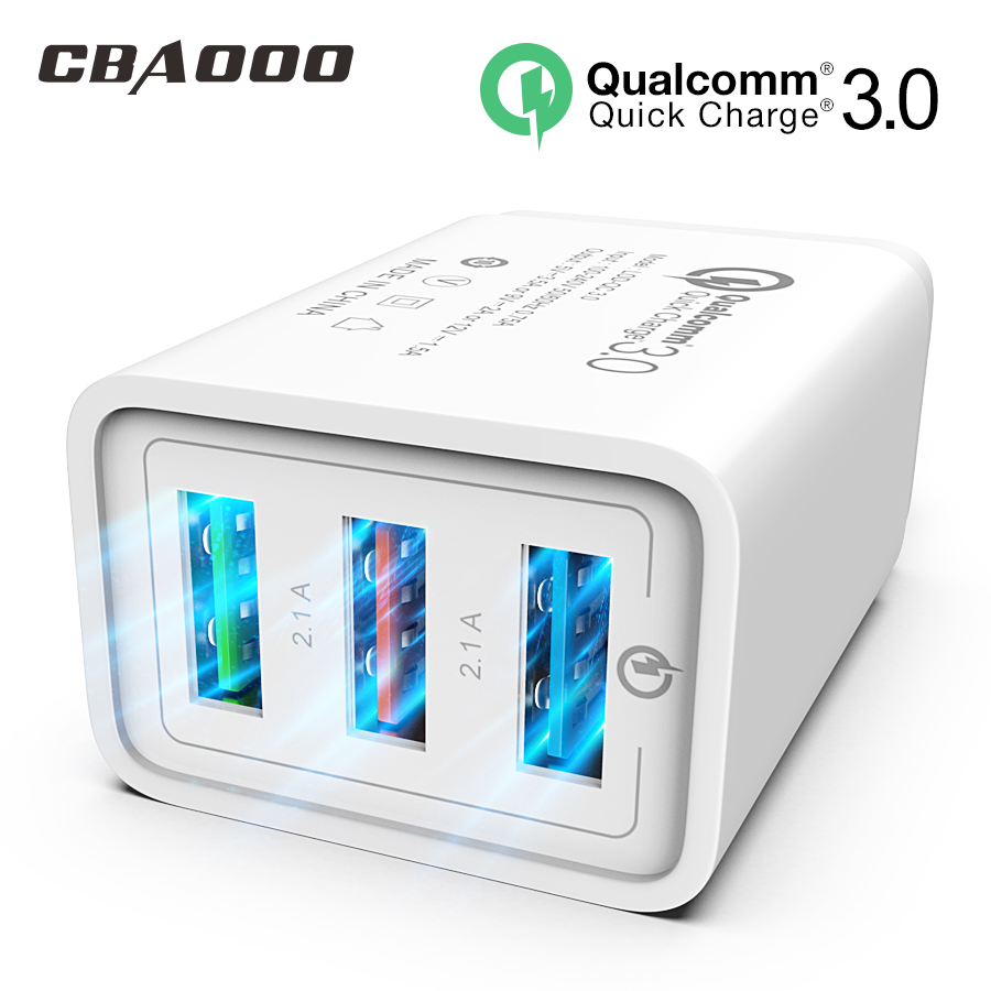 Usb Fast Charger 18W. 3 outputs