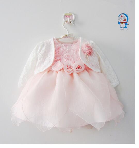 554c36879f Dziewczynek sukienki wizytowe 2017 zima lato rose flower niemowląt  dziewczyny princess dress maluch dzieci birthday party dress różowy w  Dziewczynek ...
