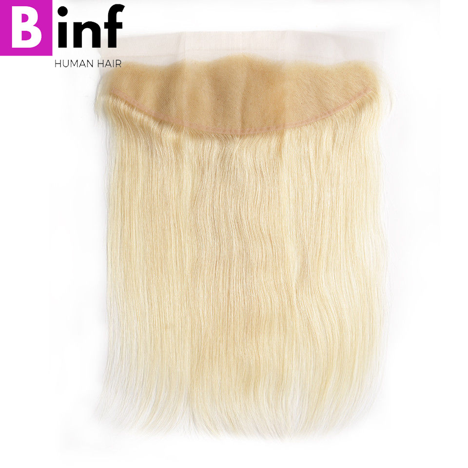 613 Blonde Bundles With Frontal Ear To Ear Straight Human Hair Bundles Blonde Brazilian Remy Hair Weave 3 Bundles with Closure