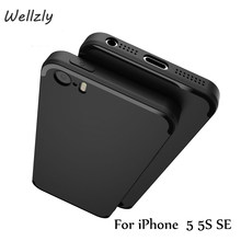 Wellzly Matt Case for iPhone 5S 5 5SE with bright line RubberTPU silicone material 0.8mm ultra-thin Thin Fashion Luxury B130(China)