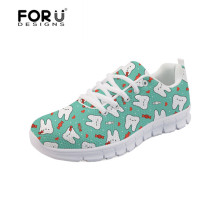 FORUDESIGNS Cartoon Dentist Printing Sneakers Womens Vulcanize Shoes 2018 Fashion Woman Casual Comfort Flats Dropshipping