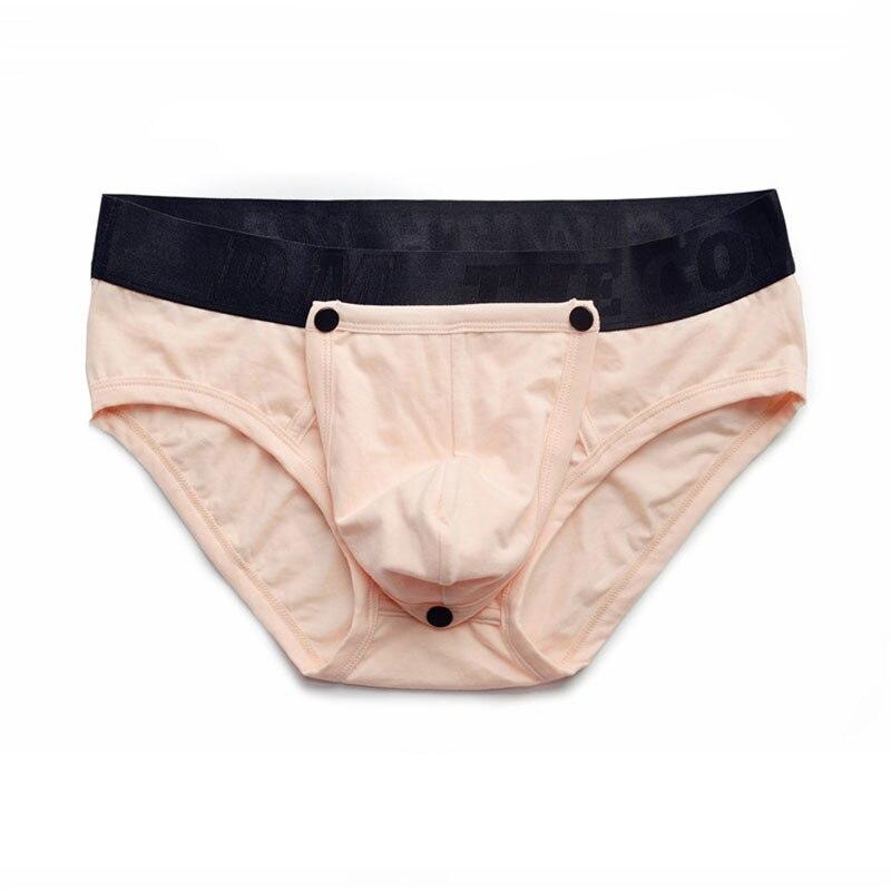 Underpants Men Underwear Solid Ropa Interior Hombre Detachable Sexy Underwear Men Briefs Men Jockstrap Gay Masculina Slip Hombre