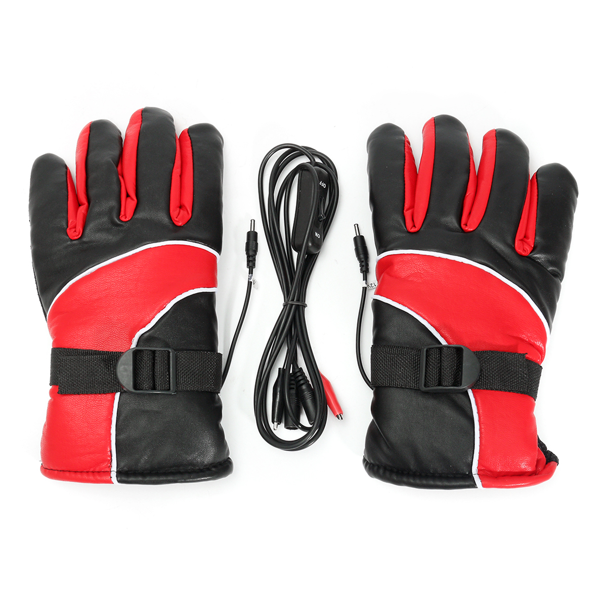 12V Electric Heated Gloves, Winter Rechargeable Warmer Gloves Motorcycle Mittens, Sport Temperature Control Cycle Outdoor Glove