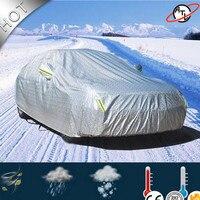 면화 자동차 커버  사계절 자동차 커버  비 눈 우박 먼지 증거 자동차 커버와 atl d5k 알루미늄 필름