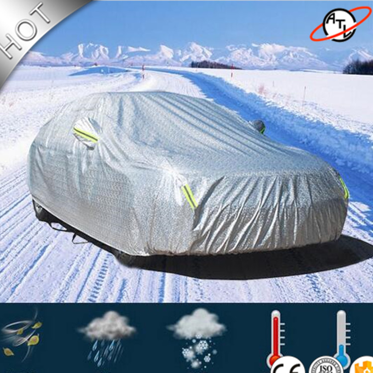 ATL D5k aluminum film with cotton Car cover ,Four seasons car cover , Rain Snow Hail Dust Proof Car-Cover 1 pair car horn dust proof cover speaker decorative circle