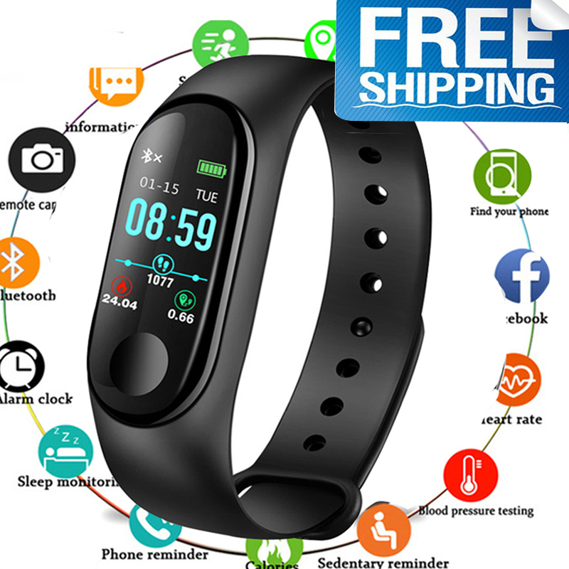 Fitness Watch Bluetooth Smart Bracelet MaleDigital Sport Wristband Heart Rate Blood Pressure Pedometer On Android IOS PK Miband(China)