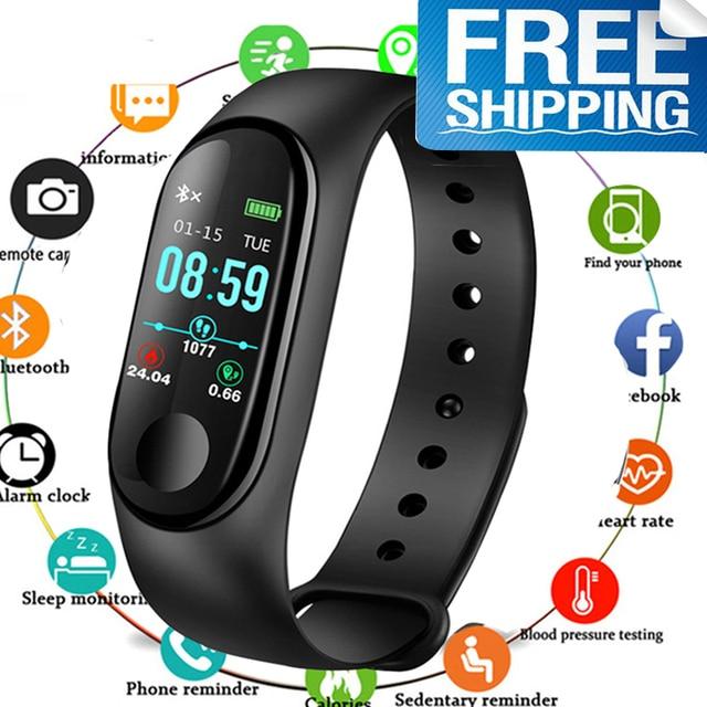 Fitness Watch Bluetooth Smart Bracelet MaleDigital Sport Wristband Heart rate Blood Pressure Pedometer on Android iOS PK Miband