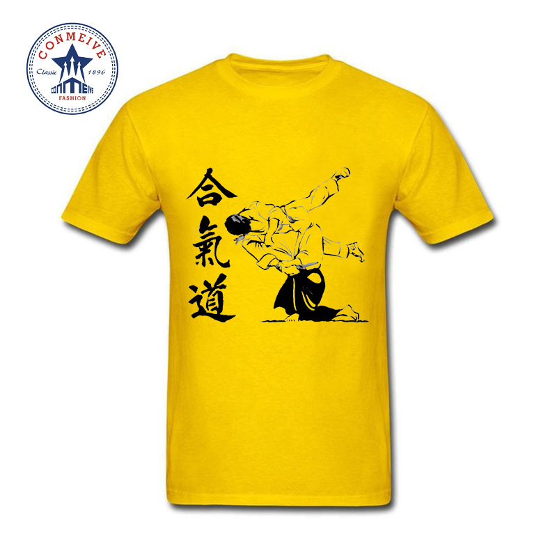 HTB1AMNxhm7PL1JjSZFHq6AciXXaM - t shirt aikido 2017 Teenage Youth Funny Cotton for men