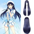 Anime cos wig Blue Hair Straight Long Cos Wig Love Live Sonoda Umi Cosplay Wigs High Quality