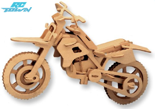 RCtown 3D Wooden Puzzle Motorcycle Model Children and Adults Educational Building Blocks Puzzle Toy zk15 ...