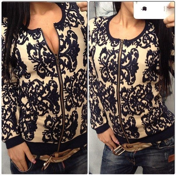 1445 New 2015 Autumn winter women's loose sweater blazer knitted ...