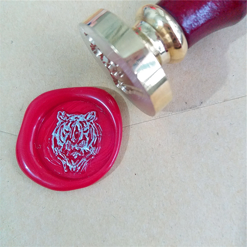 Tiger Wax Seal Stamp/ wax sealing kit /Custom wedding seals/wedding invitation seal 1 design laser cut white elegant pattern west cowboy style vintage wedding invitations card kit blank paper printing invitation