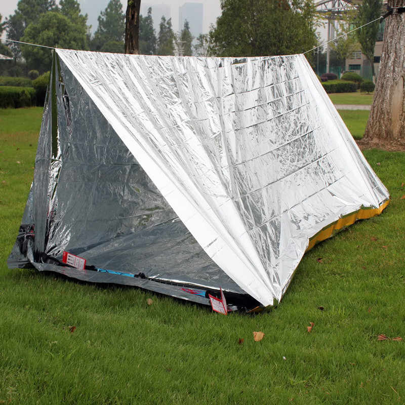 aaec64871e5f Argent Emergency Shelter Tent Outdoor Ultralight Portable Camping SOS  Shelter Mylar Emergency Tube Tent First Aid Gear