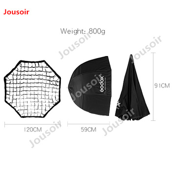 "Godox Portable 120cm 47"" Octagon Umbrella Softbox with Honeycomb Grid Photo Reflector Honeycomb Softbox for Flash SpeedlightCD50"