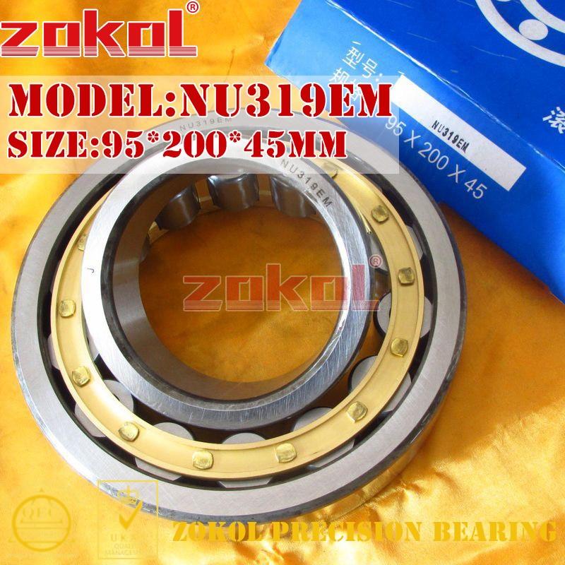 ZOKOL NU319 E M bearing NU319EM 32319EH Cylindrical roller bearing 95*200*45mm цена