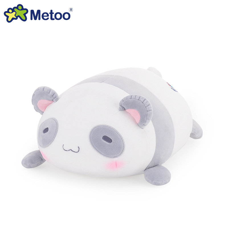 цены на Metoo 34cm Plush Cute Lovely Stuffed Baby Kids Toys for Girls Birthday Christmas Gift Lion Panda Rabbit Bear Cushion Pillow Doll в интернет-магазинах