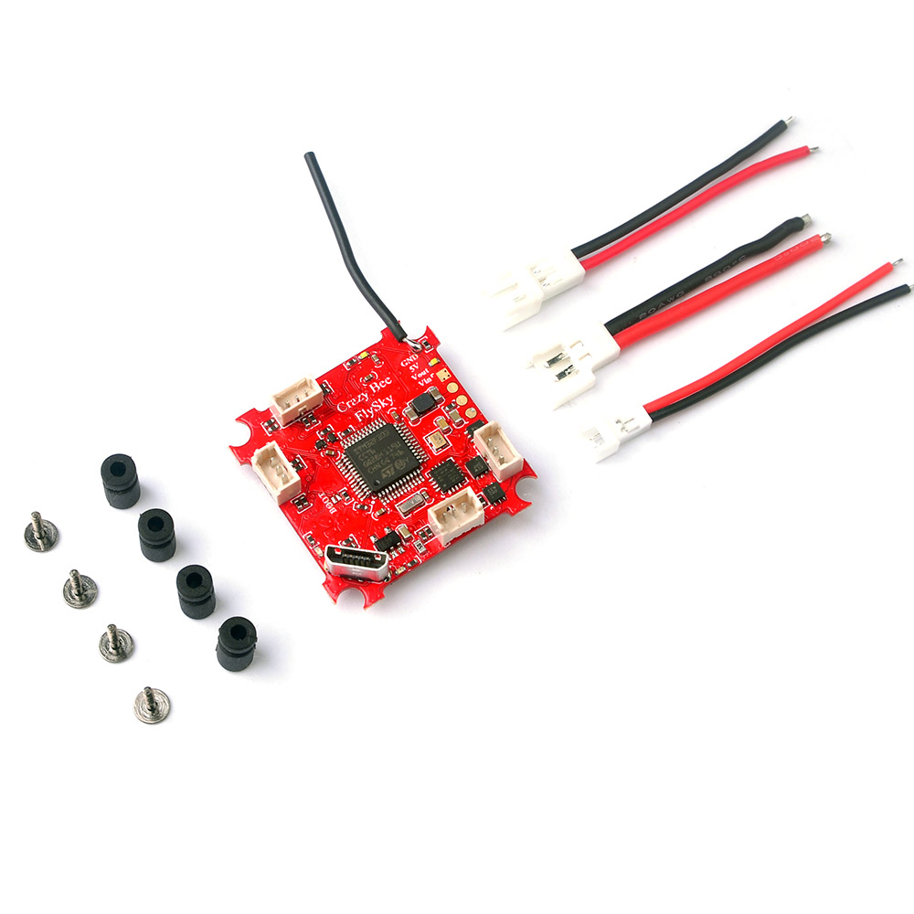 JMT Crazybee F3 Flight Controller OSD Current Meter 4 IN 1 5A 1S Blheli_S ESC Compatible Frsky / Flysky Receiver for Whoop Drone crazybee f3 flight controller dshot600 4in1 esc betaflight osd for tiny whoop brushless fpv rc drone frsky flysky dsm2 receiver