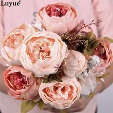 Artificial Flowers Bouquet Wedding Home Party Decoration