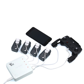 1 to 6-Channel Charger For DJI Spark Battery Parallel ChargerUSB Remote Controller ChargeUSB Smartphone Charge Accessories parallel
