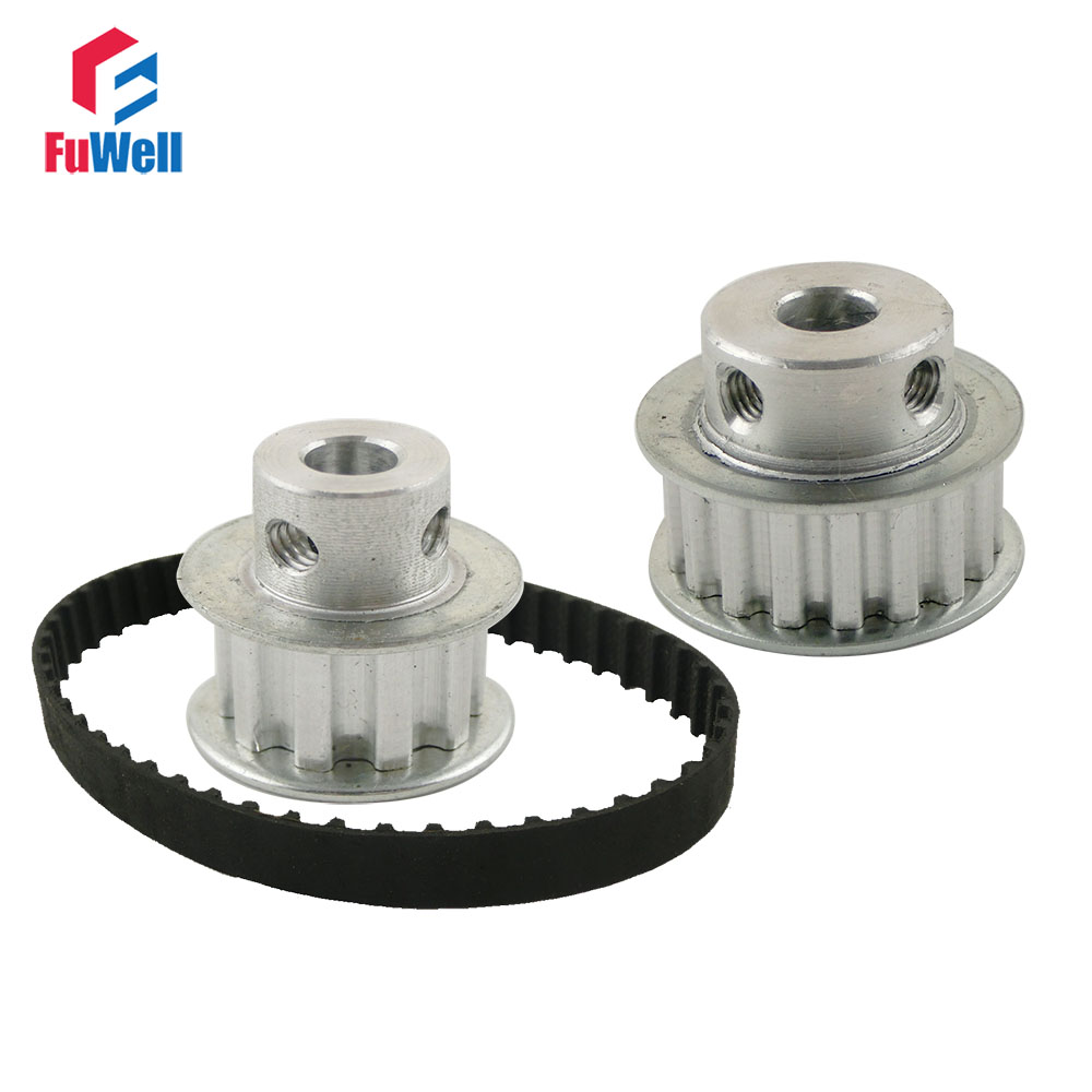 Timing Belt Pulley XL Reduction 1:2/2:1 10T 20T Shaft Center Distance 160mm Belt Gear Kit Ratio Timing Belt Pulley Set купить недорого в Москве