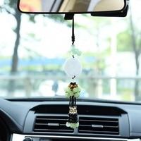 Estilo chino Lucky Charm Colgante/joyería de coches/coche Colgando Adornos de Perlas/Coche Perla Colgante/decoración de interiores