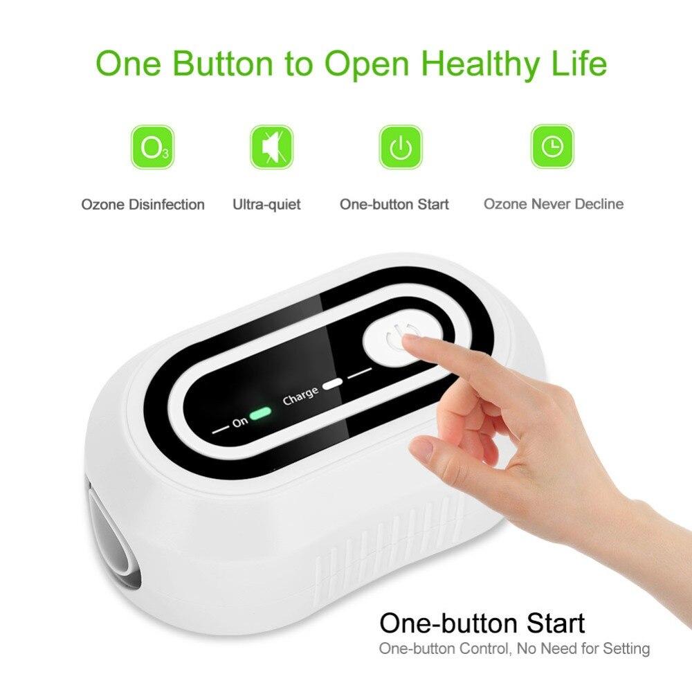 2200mAh CPAP Ozone Generator Cleaner Ventilation Disinfector Sterilizer Air Purifier Air Disinfection Vegetables Sterilization