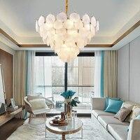 Modern Chandelier Lighting LED Pendant Hanging Light Glass Shell Chandeliers Lamp Living Dining Room Lighting Home Lighting