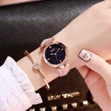 Мода Кристалл Элитный бренд для женщин часы 2019 дамы наручные часы из розового золота для женщин часы в стиле кэжуал Feminino женские часы Лидер продаж