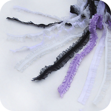 Variety Of Pleated Ruffled Elastic Fine Lace Ribbon Band Costume Hair Accessories Doll Bed Skirt Handmade DIY Decoration