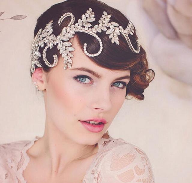 Casamento romântico cristal rhinestone resina pedra trançado headband acessórios para o cabelo de noiva